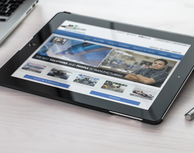 B&B Manufacturing Web Site | Christopher Green Design