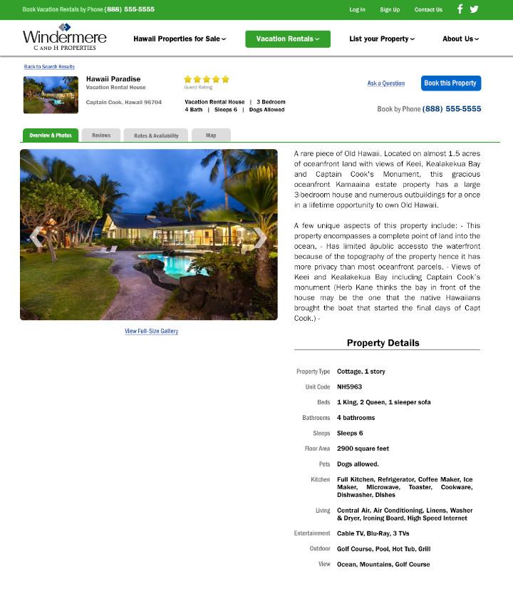 Rental Property Website: Christopher Green Design